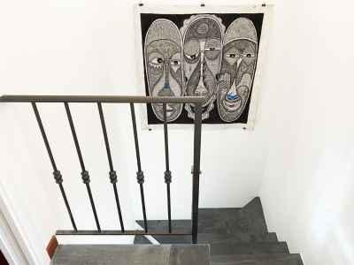 Escalier intérieur avec belle toile