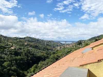 Appartement vacances à Vallebona avec vue sur la mer
