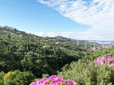 Vista sul mare di Bordighera da Pietraverdemare - vacanze
