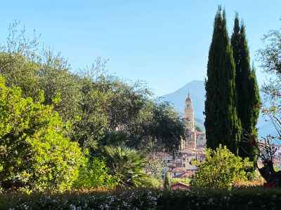 Centro storico di Vallebona visto dai giardini